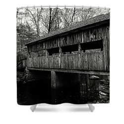 New England Covered Bridge Shower Curtain