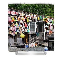 New England Lobster Shack Shower Curtain