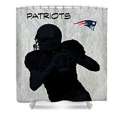 Shower Curtain featuring the digital art New England Patriots Football by David Dehner