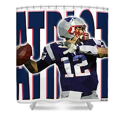 Shower Curtain featuring the digital art New England Patriots by Stephen Younts