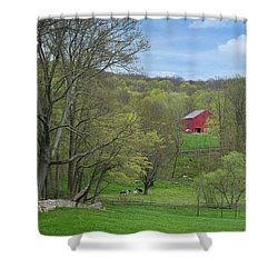 Shower Curtain featuring the photograph New England Spring Pasture by Bill Wakeley