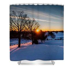 New England Sunrise Shower Curtain