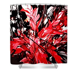 Red Black Gray Glow Shower Curtain