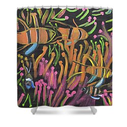 Coral Camouflage Shower Curtain
