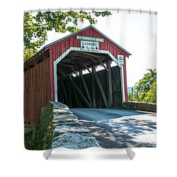 New Germantown Covered Bridge Shower Curtain