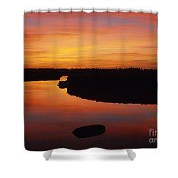 New Hampshire Salt Marsh At Sunrise Shower Curtain by Erin Paul Donovan
