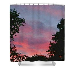 Shower Curtain featuring the digital art New Hampshire Sunset by Barbara S Nickerson