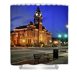 New Hanover County At Night Shower Curtain