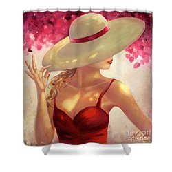 New Hat Shower Curtain