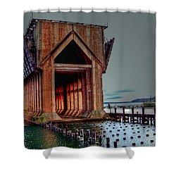 New Image - The Ore Is Gone Shower Curtain by MJ Olsen