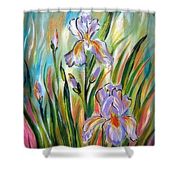 New Irises Shower Curtain
