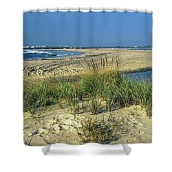 New Jersey Inlet  Shower Curtain by Sally Weigand