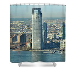 New Jersey Skyline Shower Curtain