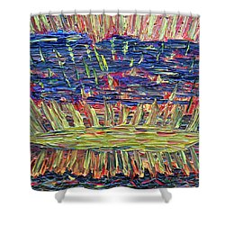 New Jersey Sunset Shower Curtain by Vadim Levin