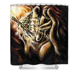 Shower Curtain featuring the painting New Journey by Hiroko Sakai