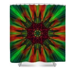 New Life Ablaze Shower Curtain