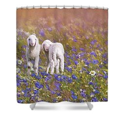 New Life Shower Curtain by Eva Lechner
