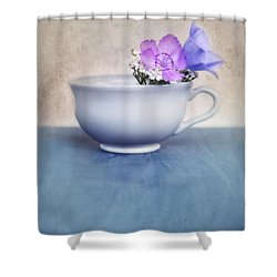 New Life For An Old Coffee Cup Shower Curtain by Priska Wettstein