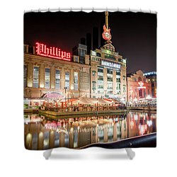 New Life Of Old Power Plant Shower Curtain