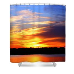New Longview Sunset Shower Curtain
