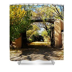 New Mexico Adobe Shower Curtain