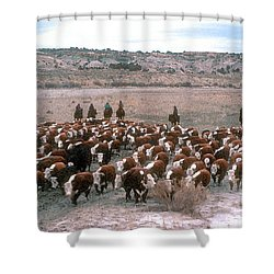 New Mexico Cattle Drive Shower Curtain by Jerry McElroy
