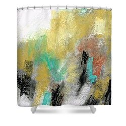 Shower Curtain featuring the painting New Mexico Horse 4 by Frances Marino
