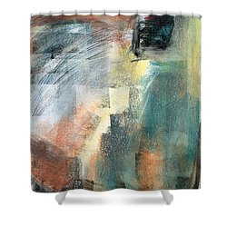 Shower Curtain featuring the pastel New Mexico Horse Three by Frances Marino
