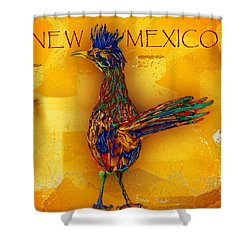 New Mexico Roadrunner Shower Curtain