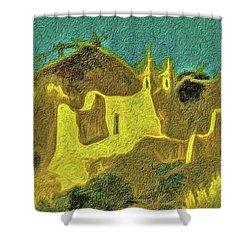 New Mexico Skyline Shower Curtain