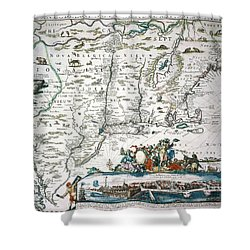 New Netherland Map Shower Curtain by Granger