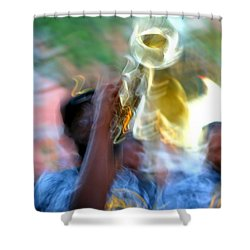 New Orleans Abstract Street Jazz Performance Shower Curtain