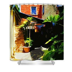 New Orleans Back Door Shower Curtain