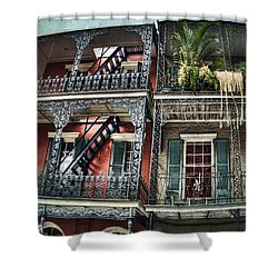 New Orleans Balconies No. 4 Shower Curtain by Tammy Wetzel