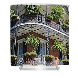 New Orleans Balcony Shower Curtain by Carol Groenen