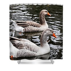 New Orleans Ducks Shower Curtain