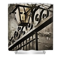 New Orleans Gaslight Shower Curtain by Beth Riser