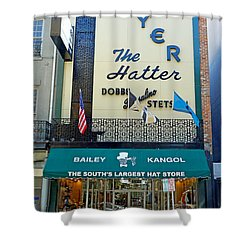 New Orleans Hatter Shower Curtain