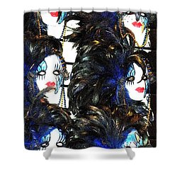 New Orleans Masks Shower Curtain