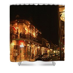 New Orleans Jazz Night Shower Curtain by Art America Gallery Peter Potter