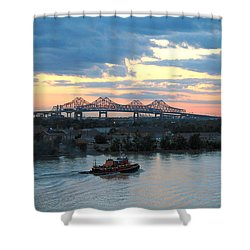 New Orleans Riverfront Shower Curtain