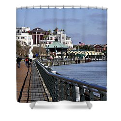 New Orleans Riverwalk 2 Shower Curtain