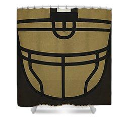 New Orleans Saints Helmet Art Shower Curtain