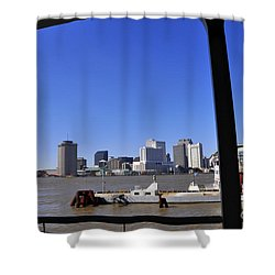 New Orleans Skyline Shower Curtain