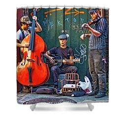 New Orleans Street Musicians Shower Curtain