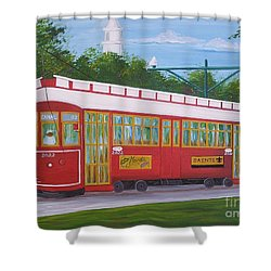 New Orleans Streetcar Shower Curtain
