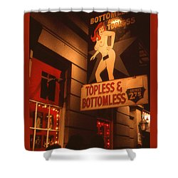 New Orleans Topless Bottomless Sexy Shower Curtain