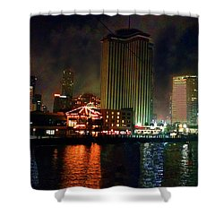 New Orleans Waterfront Shower Curtain