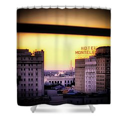 New Orleans Window Sunrise Shower Curtain by Jim Albritton