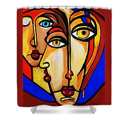 New Picasso By Nora Friends Shower Curtain by Nora Shepley